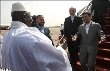 احمدی نژاد در گامبیا