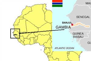 گامیبا در غرب آفریقا در دل کشور سنگال