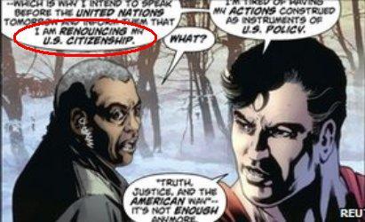 سوپرمن: می خواهم تابعیت آمریکایی خود را ترک کنم