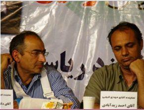دکتر زیدآبادی در کنار دکتر صادق زیبا کلام