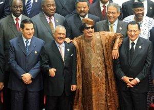 یک سال قبل: عکس یادگاری چهار دیکتاتور فروافتاده!