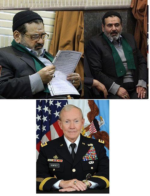 سرلشکر فیروزآبادی، رییس ستاد نیروهای مسلح ایران/ مارتین دمپسی، رییس ستاد مشترک ارتش آمریکا