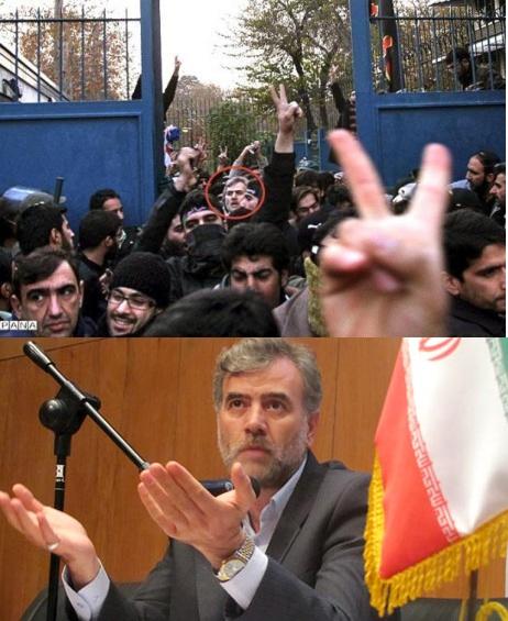 حسین قدیانی، فرمانده بسیج دانشجویی در خط مقدم حمله به سفارت انگلیس!